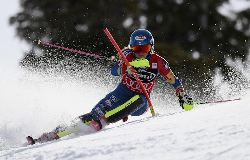 Alpine skiing - Shiffrin clinches World Cup slalom crown