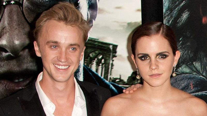 'Harry Potter' Stars Emma Watson and Tom Felton Reunite at the Beach