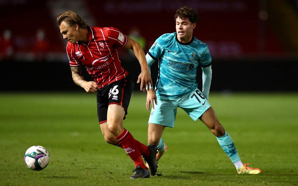 Neco Williams in action against Lincoln City - GETTY IMAGES