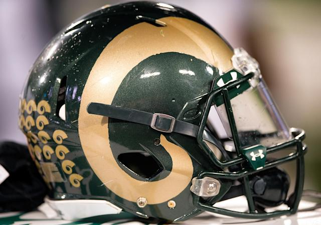 A Colorado State player was not injured after a man allegedly knelt on his neck. (Photo by Carlos Herrera/Icon Sportswire) (Photo by Carlos Herrera/Icon Sportswire/Corbis/Icon Sportswire via Getty Images)