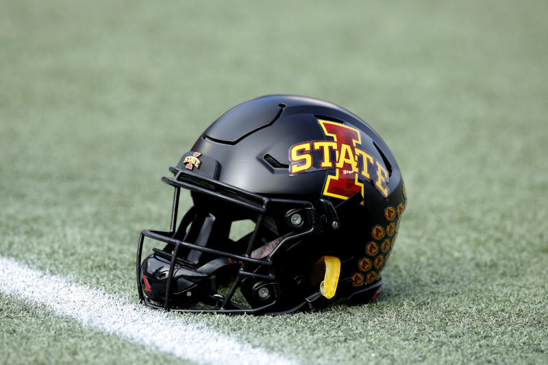 Iowa State football helmet