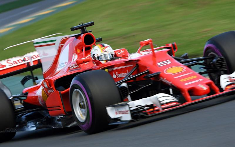 Sebastian Vettel ends the final Australian Grand Prix practice session ahead of the rest - AFP