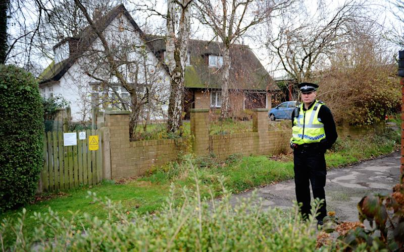 Police outside the vicarage in Freckleton in 2014 - Credit: WARREN SMITH
