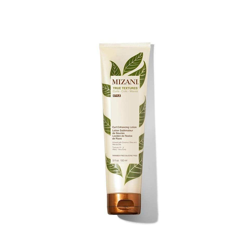 """<p>Think of this as your new favorite lotion but for your hair. Made with coconut oil, olive oil and marula oil this will leave your hair feeling feeling soft and supple with undeniable bounce. </p><p><a class=""""link rapid-noclick-resp"""" href=""""https://www.amazon.com/MIZANI-True-Textures-Enhancing-Lotion/dp/B07B4TDFZS?tag=syn-yahoo-20&ascsubtag=%5Bartid%7C10065.g.37036119%5Bsrc%7Cyahoo-us"""" rel=""""nofollow noopener"""" target=""""_blank"""" data-ylk=""""slk:Shop Now"""">Shop Now</a></p>"""