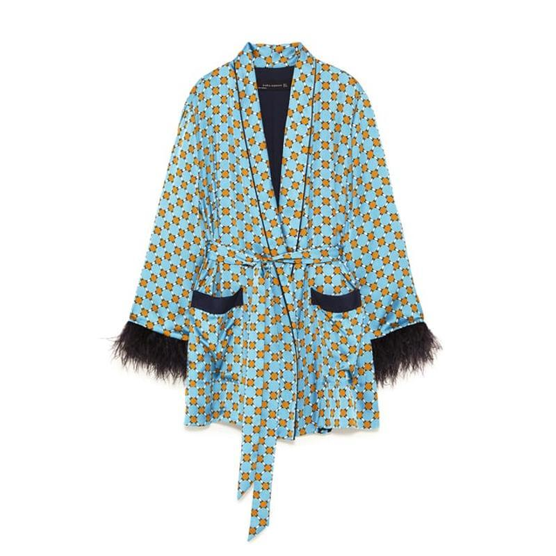 """<a rel=""""nofollow noopener"""" href=""""https://www.zara.com/us/en/relaxed-fit-feathered-blazer-p07585601.html?v1=7199019&v2=1074660"""" target=""""_blank"""" data-ylk=""""slk:Relaxed Fit Feathered Blazer, Zara, $130This feathered blazer is a fun, easy piece that will work with summer separates. But its magic will continue well into the fall when paired with faux leather pants and boots."""" class=""""link rapid-noclick-resp"""">Relaxed Fit Feathered Blazer, Zara, $130<p><span>This feathered blazer is a fun, easy piece that will work with summer separates. But its magic will continue well into the fall when paired with faux leather pants and boots. </span></p> </a>"""