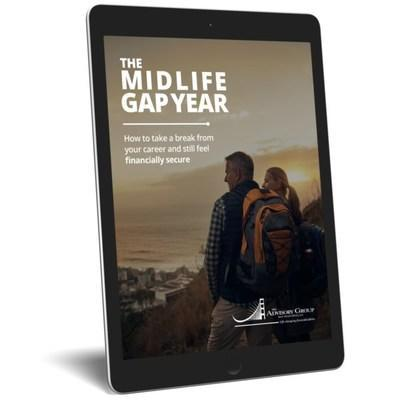Midlife is complex. Gen X-ers need a Gap Year more than a high school grad. With high work pressure and family responsibilities, along with the pandemic's upheaval, midlife is now even more intense. MIdlife professions and business owners have a choice: keep working hard, sacrificing today's enjoyment, to try to retire early OR take planned breaks from your career along the way, working longer with more energy and fulfillment. The Advisory Group of San Francisco's 16-page Midlife Gap Year guide  takes business owners and leaders through a 3-step process to plan their hiatus and still feel financially secure.