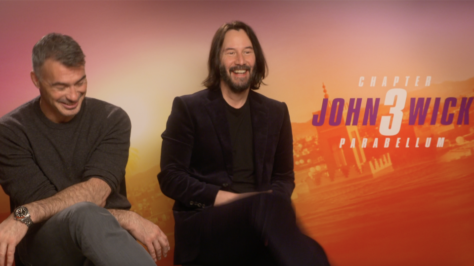 Chad Stahelski and Keanu Reeves discuss the future of John Wick.