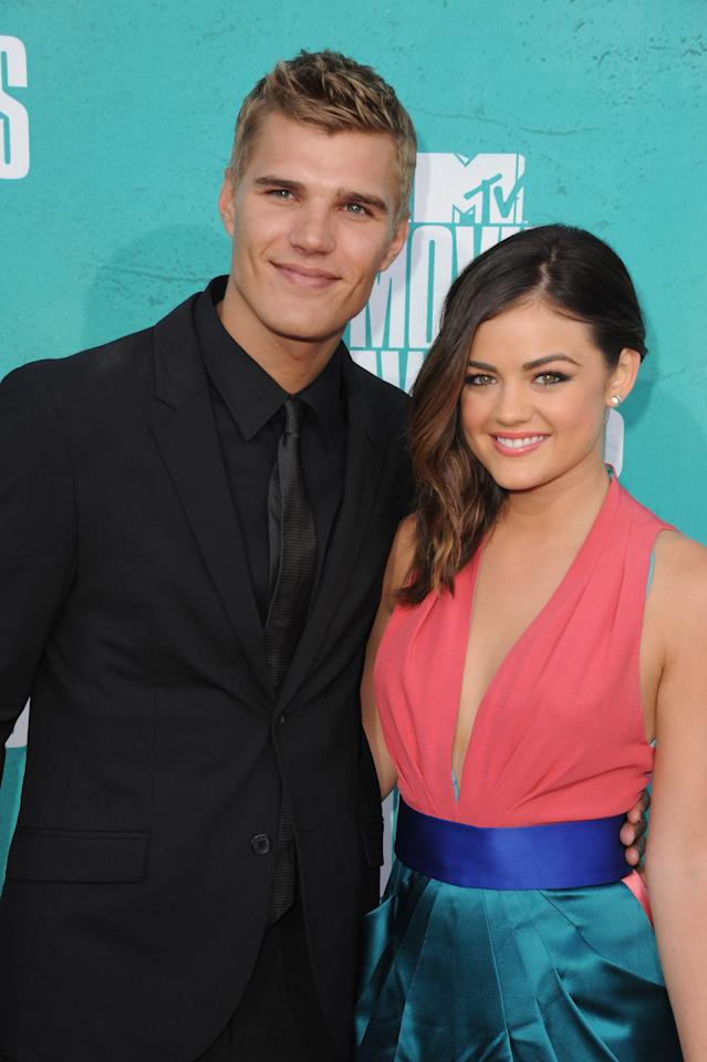 "<p>After Alex, Lucy dated <strong>Amazing Spider-Man</strong> actor Chris Zylka for about nine months before some <a href=""http://www.eonline.com/news/346907/bitter-twitter-breakup-lucy-hale-and-chris-zylka-take-split-public"" rel=""noopener noreferrer"" target=""_blank"" class=""ga-track"" data-ga-category=""Related"" data-ga-label=""http://www.eonline.com/news/346907/bitter-twitter-breakup-lucy-hale-and-chris-zylka-take-split-public"" data-ga-action=""In-Line Links"">cryptic tweets from Chris</a> suggested that the two were done. The duo first met at New Years Eve party, but when a fan tweeted at Chris that his ""girlfriend is gorgeous"" in September 2012, Chris replied, ""Don't have a girlfriend. She decided she was too good."" </p> <p>Luckily, <a href=""http://www.usmagazine.com/celebrity-news/news/chris-zylka-apologizes-for-slamming-ex-lucy-hale-on-twitter-2012209/"" target=""_blank"" class=""ga-track"" data-ga-category=""Related"" data-ga-label=""http://www.usmagazine.com/celebrity-news/news/chris-zylka-apologizes-for-slamming-ex-lucy-hale-on-twitter-2012209/"" data-ga-action=""In-Line Links"">Chris later apologized</a> in a series of tweets. ""I'd like to apologize about my previous comments,"" he said. ""Lucy is not only one of the most talented people I've ever had the pleasure of knowing, but also one the most beautiful, inside and out. Anyone who's ever watched, or had the pleasure of meeting her, knows this to be true.""</p>"