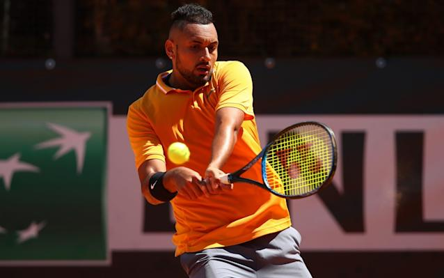 No-one will want to face Nick Kyrgios at Wimbledon or Queen's in the coming weeks - Getty Images Europe