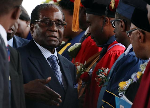 Zimbabwe's Robert Mugabe was the world's oldest serving president beforeit was announced he was stepping down Tuesday. (Philimon Bulawayo/Reuters)