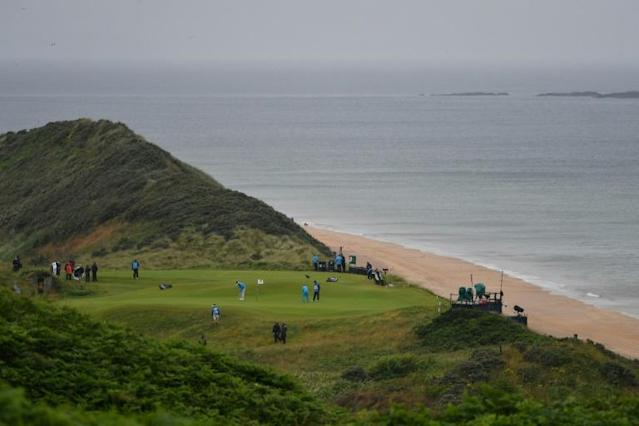 The British Open is being held in Northern Ireland for the first time since 1951 (AFP Photo/Paul ELLIS)