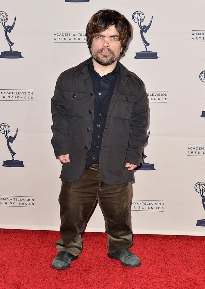 "Peter Dinklage attends The Academy of Television Arts & Sciences'  presentation of An Evening With ""Game of Thrones"" at TCL Chinese Theatre on March 19, 2013 in Hollywood, California."