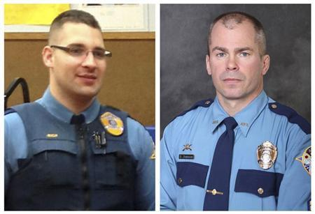 Combo picture of Alaska Department of Public Safety handouts shows Alaska State Troopers Sergeant Johnson and Rich, who were killed in Tanana