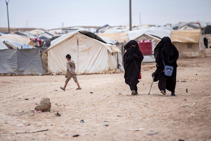 The al-hol refugee camp in northeast Syria is home to many families and supporters of Isis (AP)