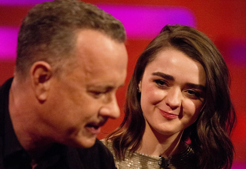 <strong>Tom Hanks and Maisie Williams</strong>
