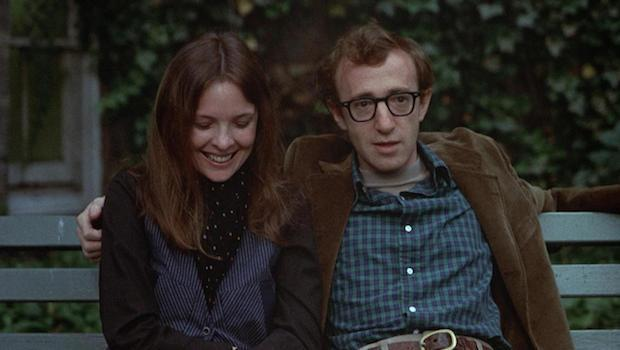 <p> Neurotic comedian Alvy Singer (Woody Allen) explores the doomed nature of his past romantic relationships, in particular his most recent paramour, Annie (Diane Keaton). The two meet through friends, and embark on what Alvy considers to be an unusual relationship. She's a free-spirited hipster while he remains the introspective analyst. </p> <p> The subtitled scene following the pairs initial meeting, on a Manhattan rooftop, is pure cinema gold: a sterling example of Allen's quick wit. While Annie and Alvy are conducting a seemingly trivial conversation concerning a date, subtitles flash up to reveal what's actually being conveyed. </p>