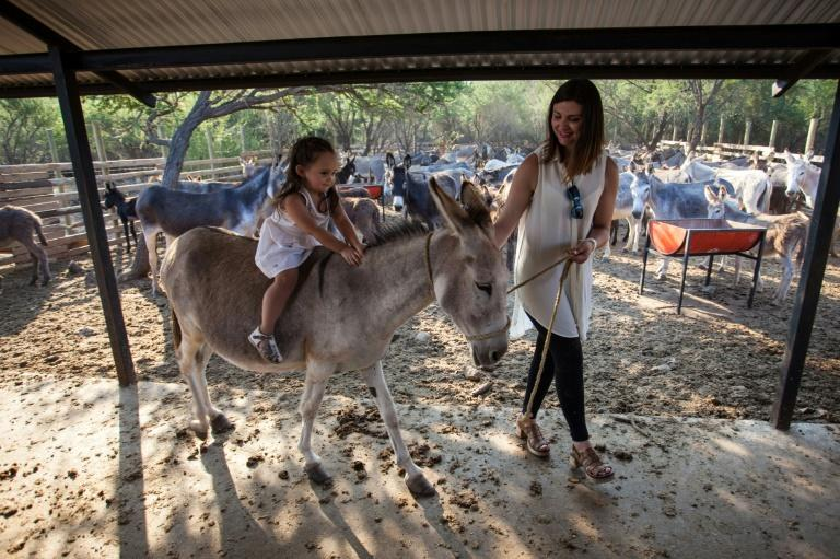 Severe food allergies kept Fiorella Fuentes from stomaching her formula leaving her near starving until her desperate mother Carolina (R) was advised to give her donkey milk