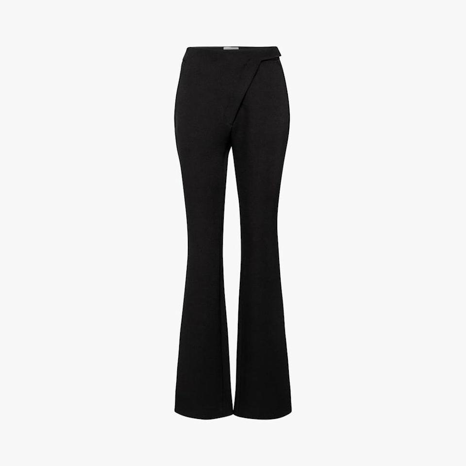 "$565, MYTHERESA. <a href=""https://www.mytheresa.com/en-us/coperni-high-rise-flared-pants-1702516.html"" rel=""nofollow noopener"" target=""_blank"" data-ylk=""slk:Get it now!"" class=""link rapid-noclick-resp"">Get it now!</a>"