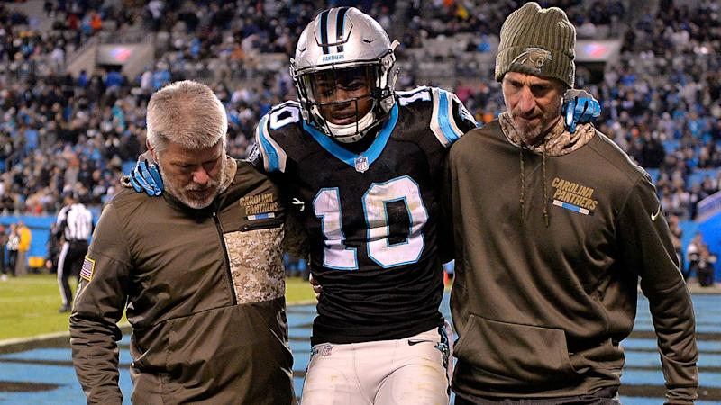 Panthers wide receiver Curtis Samuel suffers season-ending ankle injury