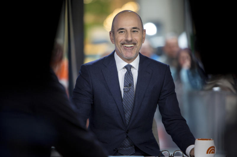 """Matt Lauer on """"Today"""" in November, before the allegations broke. (NBC via Getty Images)"""
