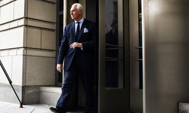 Former Trump advisor Roger Stone, indicted by the team of Special Counsel Robert Mueller, departs Federal Court after attending his arraignment hearing, where he pleaded not guilty, in Washington, D.C., on Tuesday, January 29, 2019.