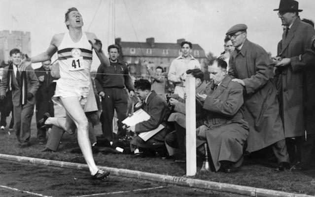 Sir Roger Bannister produced one of the greatest moments in British sporting history in 1954, according to Brendan Foster - HULTON ARCHIVE