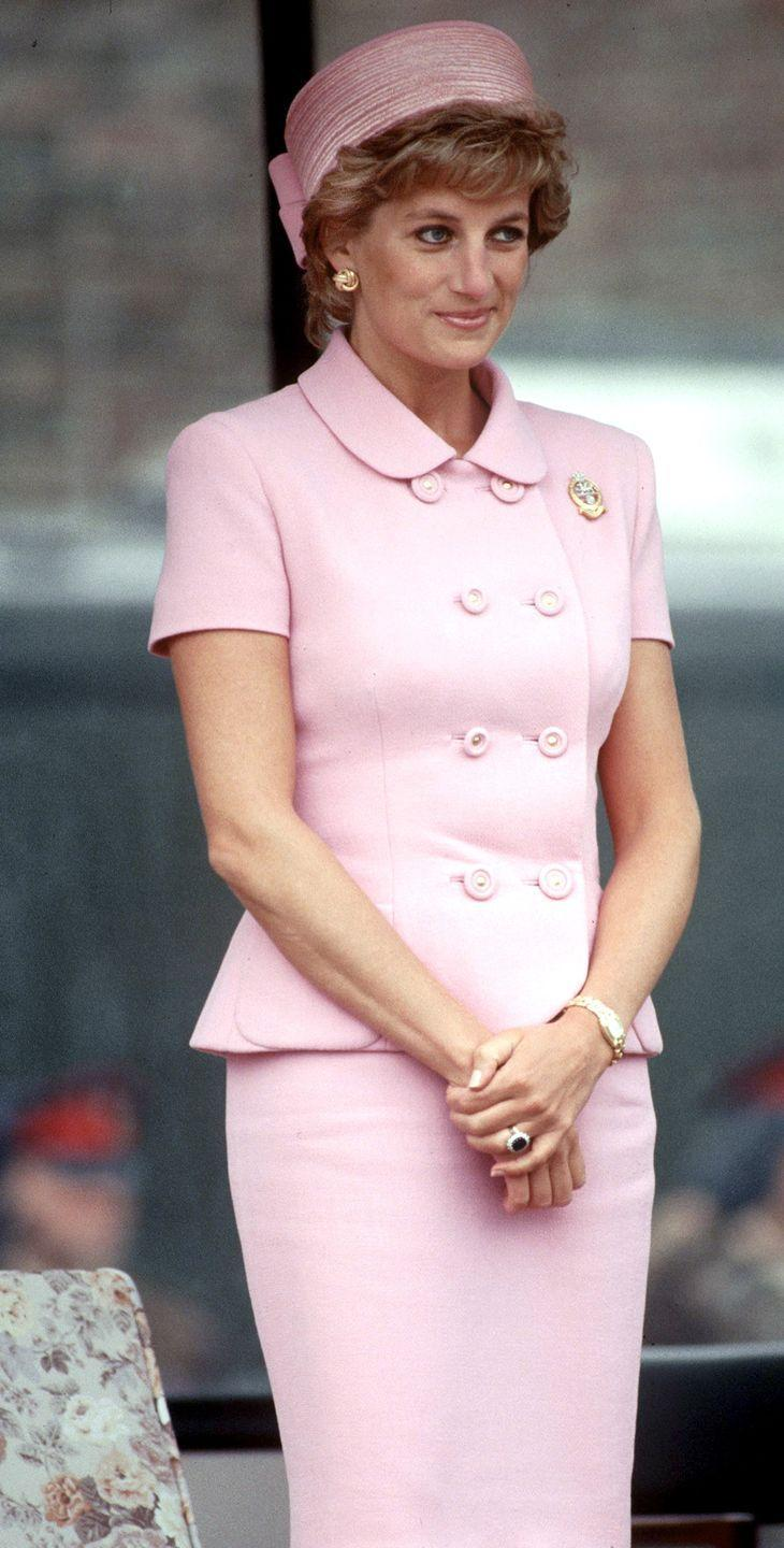 """<p>Reportedly, Princess Diana's hats often had <a href=""""https://www.dailymail.co.uk/femail/article-4797540/The-hats-Diana-feel-like-Princess.html"""" rel=""""nofollow noopener"""" target=""""_blank"""" data-ylk=""""slk:combs inside them"""" class=""""link rapid-noclick-resp"""">combs inside them</a> that would secure to her hair so they stayed put. Hidden but useful! </p>"""