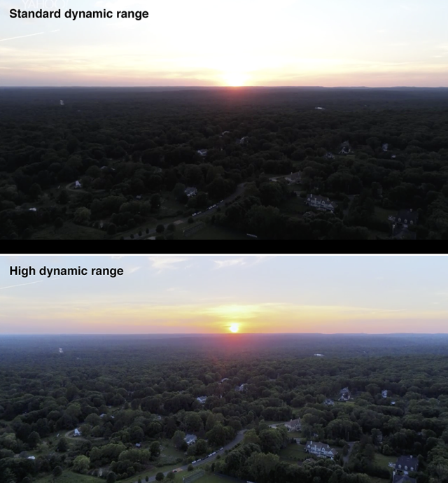 In many situations, HDR video looks much better than the standard setting.