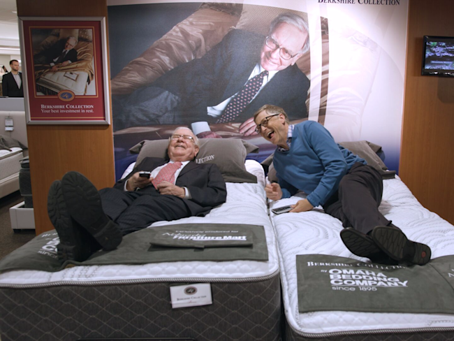 Billionaires bill gates and warren buffett like to try out for Furniture xo out of business