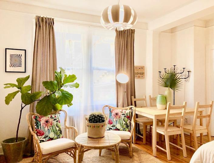 """<h2><a href=""""http://airbnb.pvxt.net/gyM5X"""" rel=""""nofollow noopener"""" target=""""_blank"""" data-ylk=""""slk:The Happiness - Steps to the Beach Big Studio Apt"""" class=""""link rapid-noclick-resp"""">The Happiness - Steps to the Beach Big Studio Apt</a></h2><br>""""Lots of space! Full kitchen, comfy chairs for relaxing, and dining set with 4 chairs, and separate desk area! A large closet gets everything out of your living space!<br>AND-Be front and center for all of the big events that happen here downtown such as Grand Prix, Gay Pride, Music Festivals, etc (right across the street). With a walk score of 89 this neighborhood features, terrific restaurants, wine bars, lounges, clubs, and a Vons Market just 1-2 blocks away."""" <br><br><strong>Location:</strong> Long Beach, California <br><strong>Sleeps:</strong> 2<br><strong>Price Per Night:</strong> $100"""