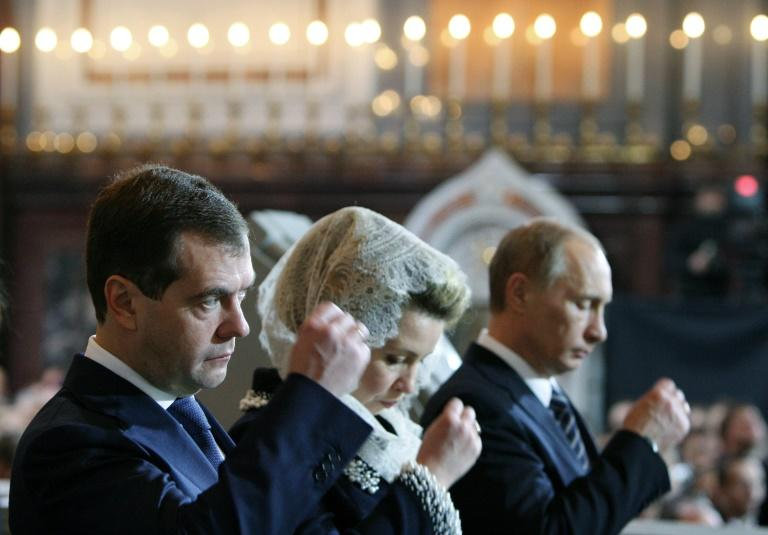 Back in 2012 Medvedev was Russia's president and and Putin was prime minister (AFP Photo/MIKHAIL KLIMENTYEV)