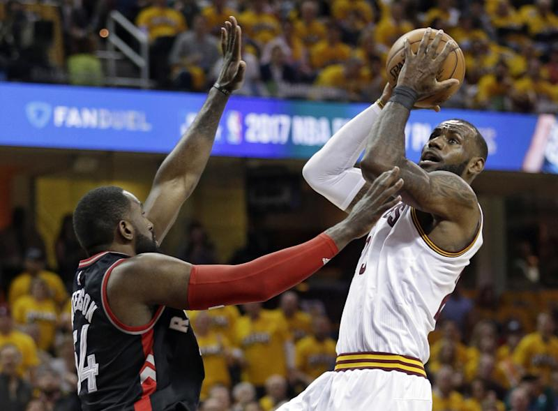 LeBron James had 35 points and 10 rebounds in Game 1 on Monday night. (AP)