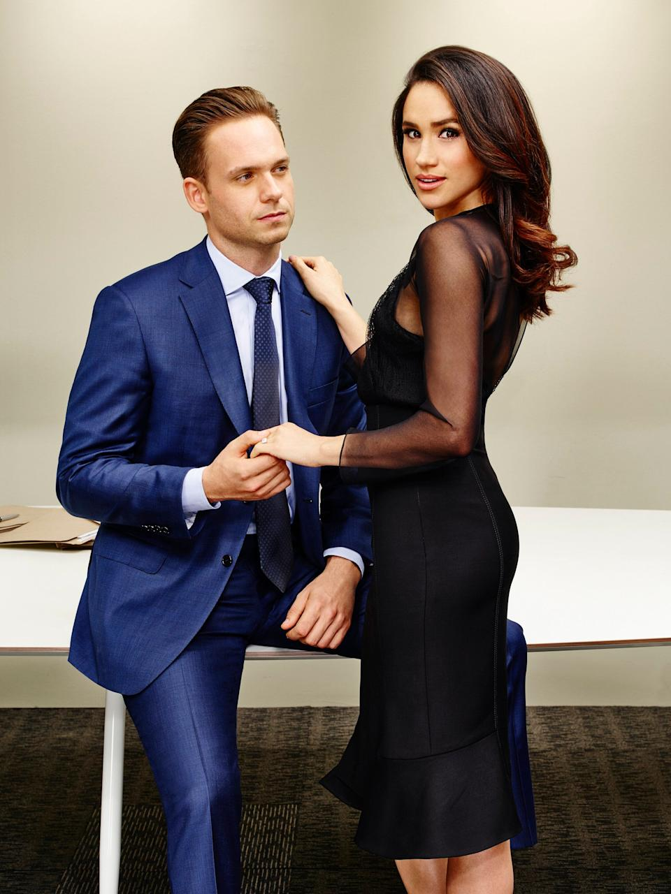 Patrick J. Adams played Michael Ross and Meghan Markle played Rachel Zane on Suits. (Photo: USA Network via Getty Images)
