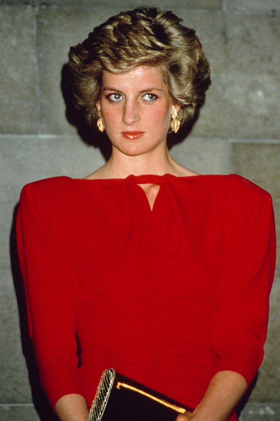 <p>Veering away from her side-part, Diana showed off a new style while attending a state reception while visiting Melbourne.</p>