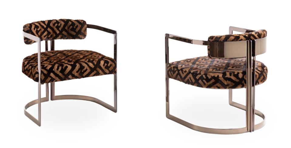 """<p>Perennially one of the coolest fashion brands, Fendi's home line proves their artistry goes far beyond purses and bucket hats. While most of the Fendi Casa products don't feature the brand's iconic print, it's instantly recognizable on the <a href=""""https://www.luxurylivinggroup.com/products/brigitte-fur-armchair/"""" rel=""""nofollow noopener"""" target=""""_blank"""" data-ylk=""""slk:Brigitte Fur Armchair"""" class=""""link rapid-noclick-resp"""">Brigitte Fur Armchair</a>. </p><p><a class=""""link rapid-noclick-resp"""" href=""""https://www.luxurylivinggroup.com/fendi-casa-furniture/"""" rel=""""nofollow noopener"""" target=""""_blank"""" data-ylk=""""slk:Shop"""">Shop</a></p>"""