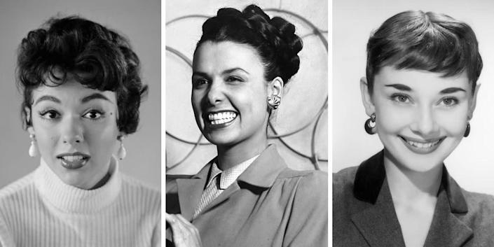 Hollywood stars like Rita Moreno, Lena Horne and Audrey Hepburn were clearly fans of the statement earring. But the pairs shown here somehow manage to be both bold and understated -- they're chunky, but not too big, and they still draw attention to the face. Plus, they look just as stylish now as they did back then.