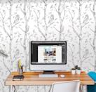 <p>How adorable is this <span>Wall Pops Gray Woods Peel and Stick Wallpaper</span> ($34)?</p>