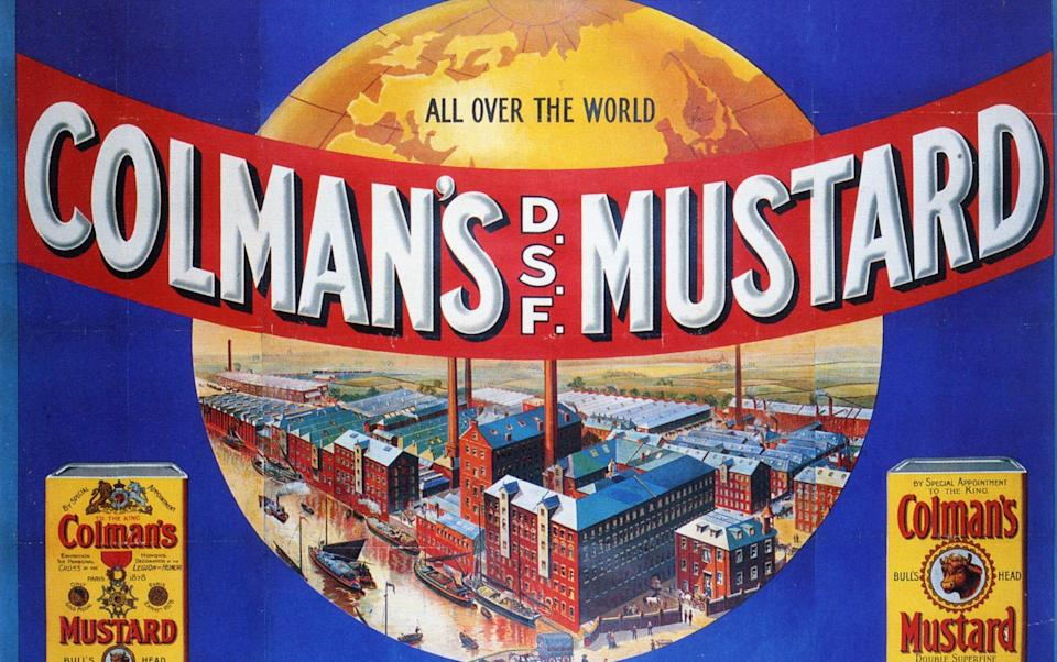 An advertisement for Colman's mustard - Alamy
