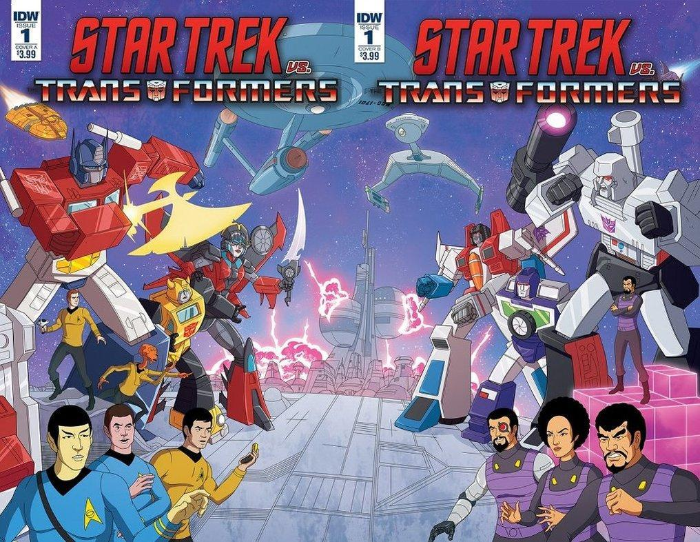 <p>Two of Paramount's biggest movie franchise have teamed up for a new 4-part comic series packed with nostalgia. It sees the crew of the 1973s animated <em>Star Trek</em> TV series teaming up with the Generation 1 Autobots (the classic 1980s cartoon) against the Decepticons. They're robots Jim, but not as we know them. </p>