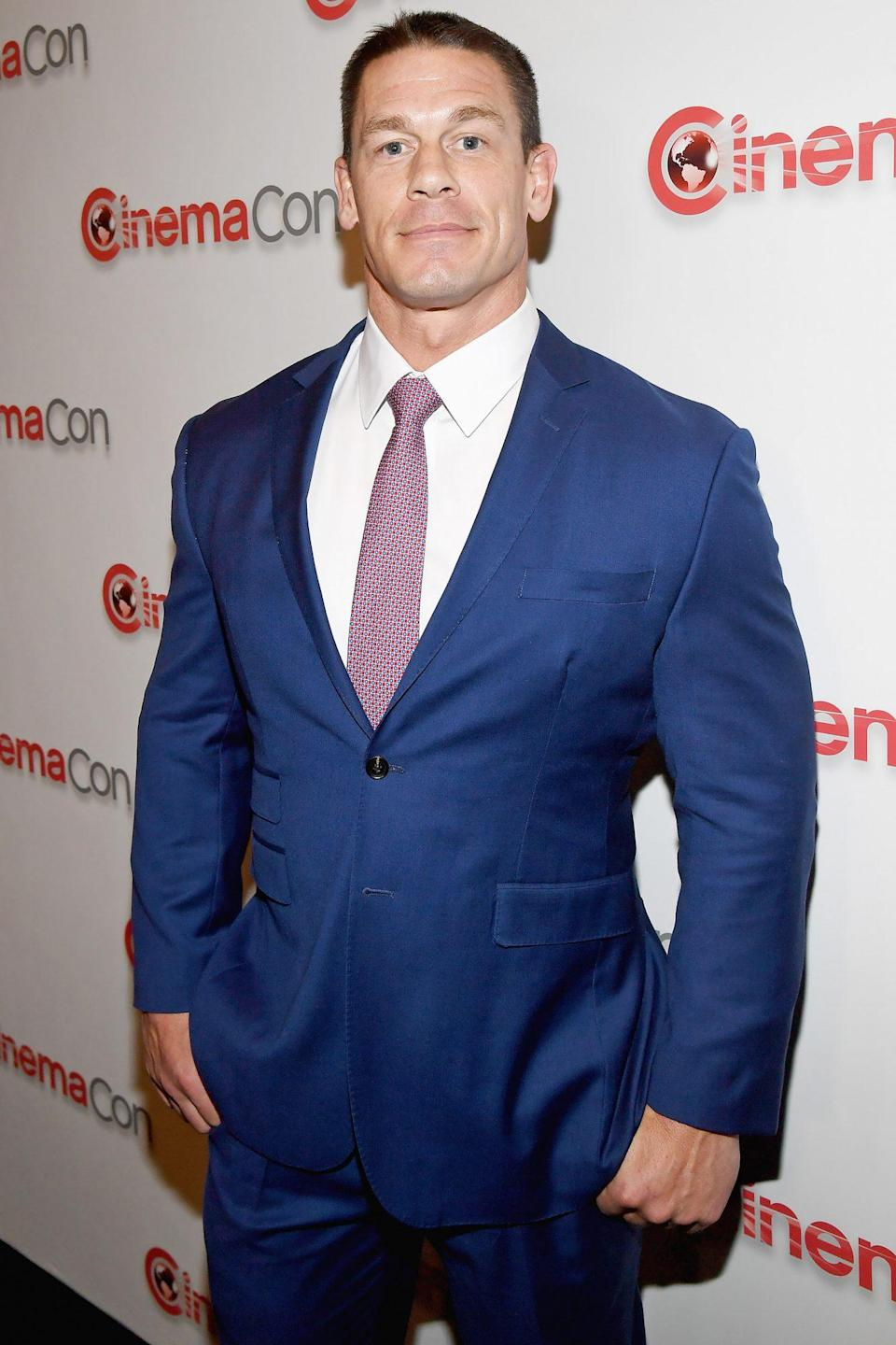 <p>Cena — who works double time as a professional wrestler and actor — was born on April 23. </p>