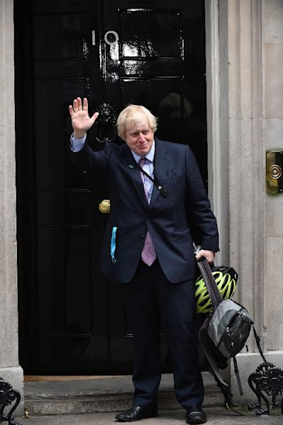 London Mayor and newly-elected Conservative MP Boris Johnson arrives for a meeting at 10 Downing Street on May 11, 2015 (AFP Photo/Ben Stansall)