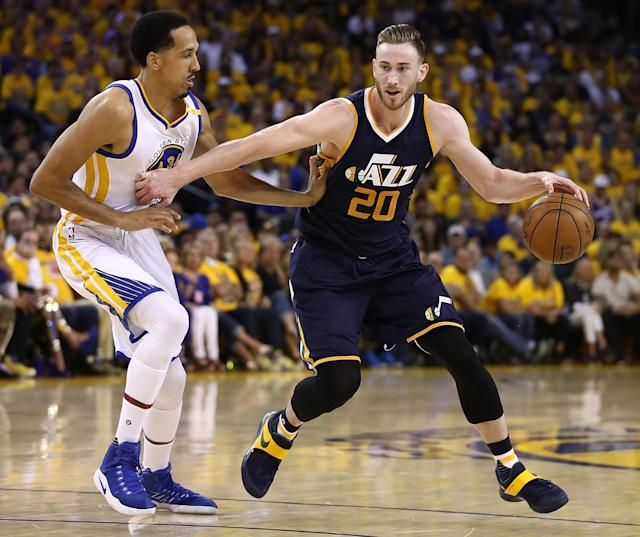 "<a class=""link rapid-noclick-resp"" href=""/nba/players/4724/"" data-ylk=""slk:Gordon Hayward"">Gordon Hayward</a>'s departure in free agency left the Jazz without their best scorer. (Getty)"
