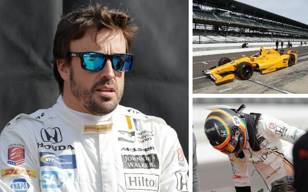 Fernando Alonso finally got behind the wheel in Indycar ahead of his debut - Darron Cummings/Michael Conroy/AP Photo