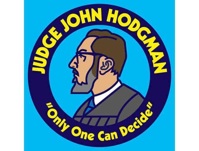 """<p>Sometimes, disputes between friends or partners need an impartial moderator, and that's where Judge John Hodgman comes in. Guests bring their petty arguments, longstanding beefs and stalemated disputes to the celebrity and comedian who weighs in on what they should do. </p><p><a class=""""link rapid-noclick-resp"""" href=""""https://podcasts.apple.com/us/podcast/judge-john-hodgman/id337713843"""" rel=""""nofollow noopener"""" target=""""_blank"""" data-ylk=""""slk:LISTEN NOW"""">LISTEN NOW</a></p>"""