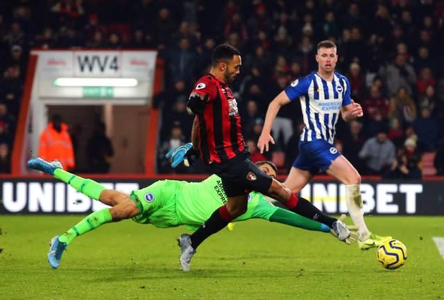 Callum Wilson slots home Bournemouth's third (Mark Kerton/PA).