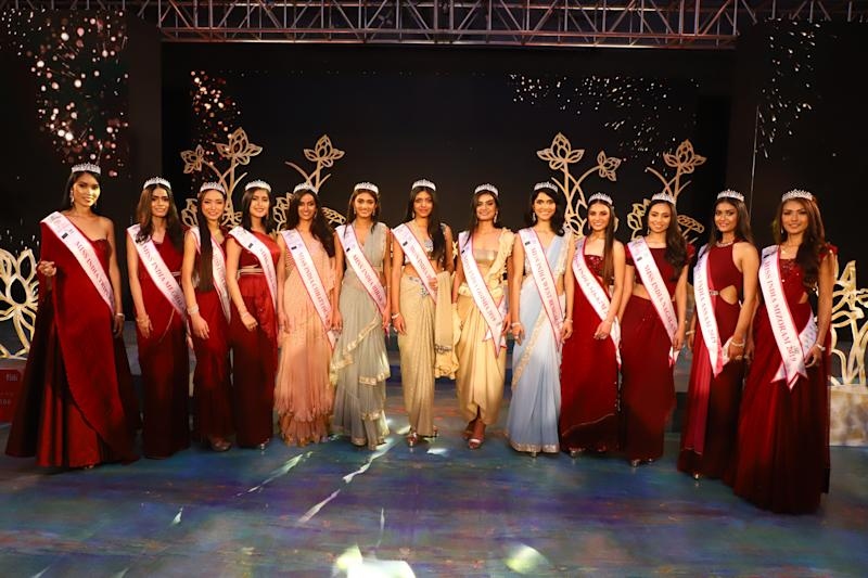 Participants at the fbb Colors Femina Miss India East 2019 on April 23,2019 in Kolkata,India. (Photo by Debajyoti Chakraborty/NurPhoto via Getty Images)