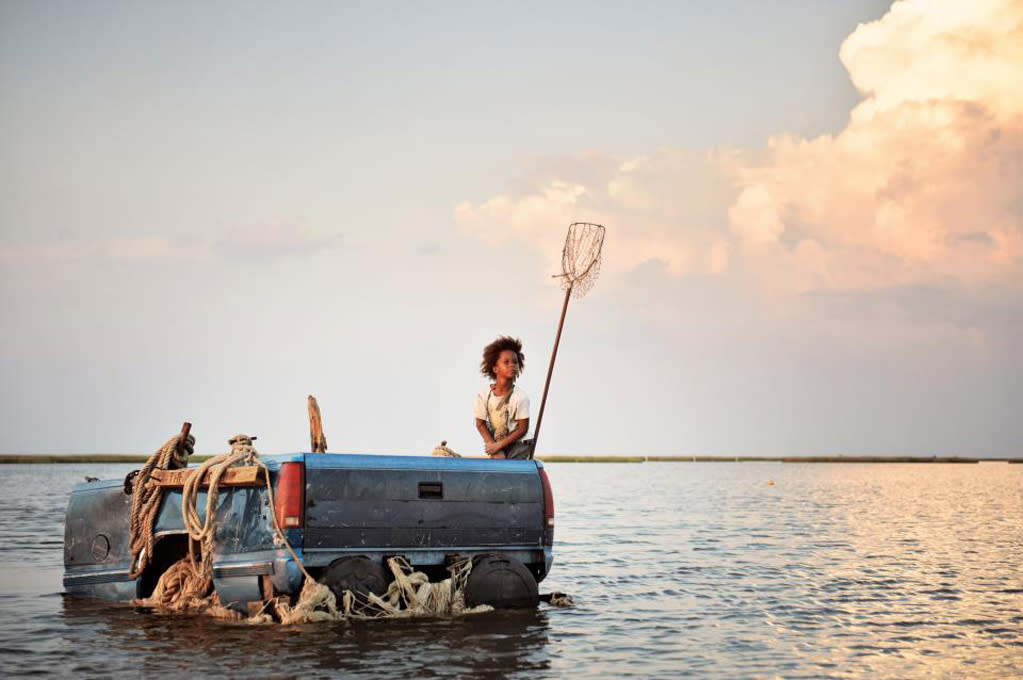 """Beasts of the Southern Wild"": In this wildly original crowd-pleaser, Hushpuppy, a 6-year-old girl born in the bayou, lives with her father, Wink, in the Delta. Cast with nonactors, the fantastical competition drama is part song of the South, part father-daughter love story, and part mystical journey as Wink's health fails and Hushpuppy must save the world from the strange return of prehistoric aurochs and unnatural disasters."