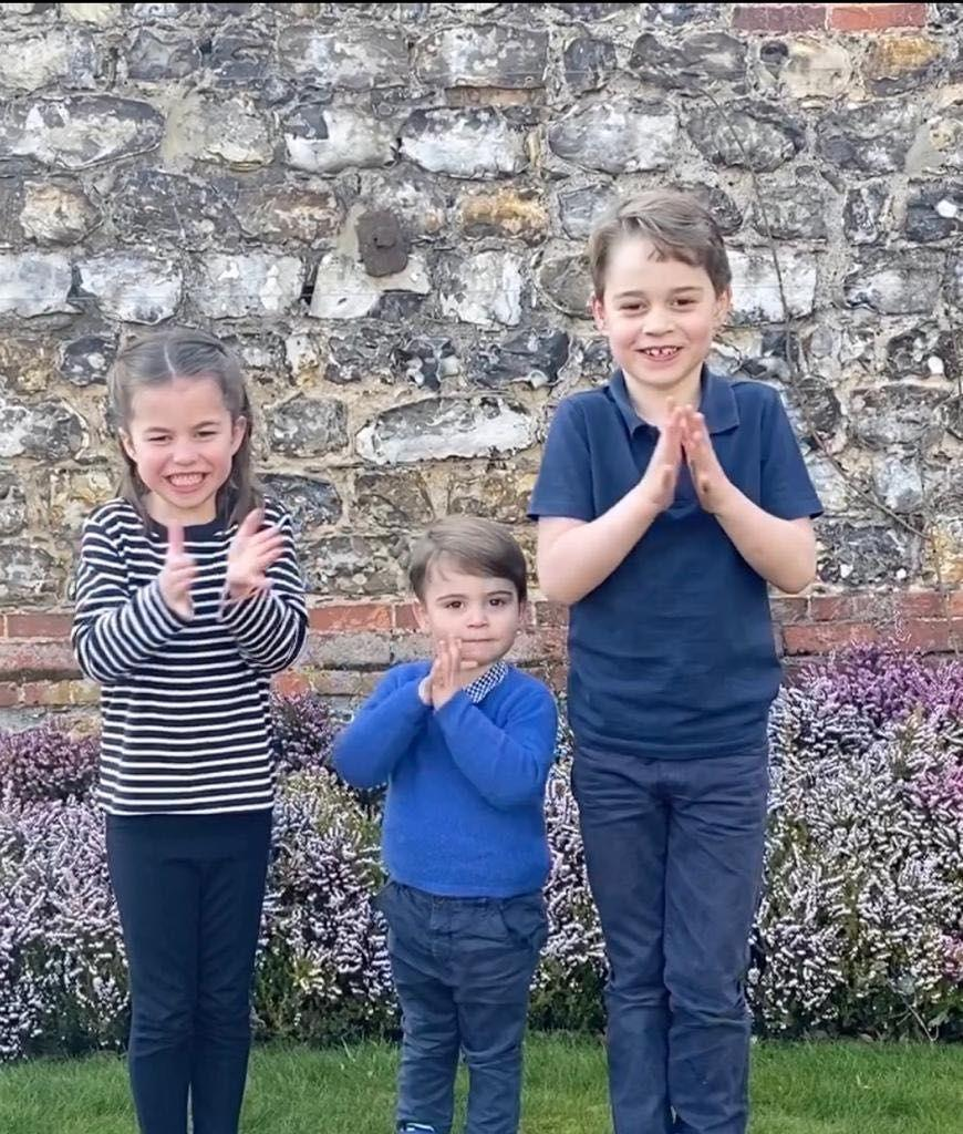 "<p>The three royal siblings <a href=""https://www.townandcountrymag.com/society/tradition/a31945537/prince-george-princess-charlotte-prince-nhs-coronavirus-clapping-video/"" rel=""nofollow noopener"" target=""_blank"" data-ylk=""slk:showed their appreciation"" class=""link rapid-noclick-resp"">showed their appreciation</a> for National Health Services workers by participating in the Clap for our Carers initiative. Kensington Royal posted an adorable video of the trio clapping to thank everyone on the front lines of the novel coronavirus pandemic. </p>"