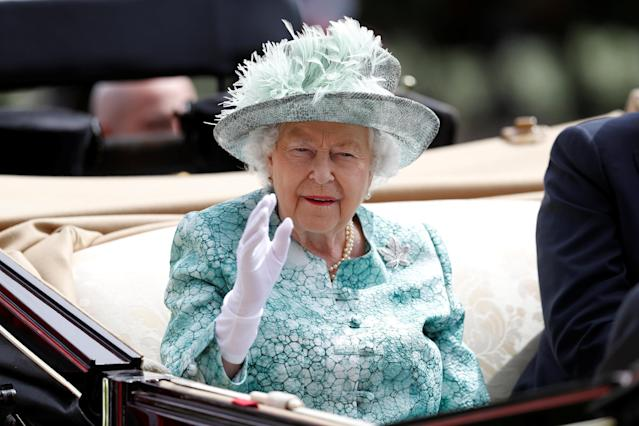 Horse Racing - Royal Ascot - Ascot Racecourse, Ascot, Britain - June 23, 2018 Britain's Queen Elizabeth during the royal procession before the start of the racing REUTERS/Peter Nicholls