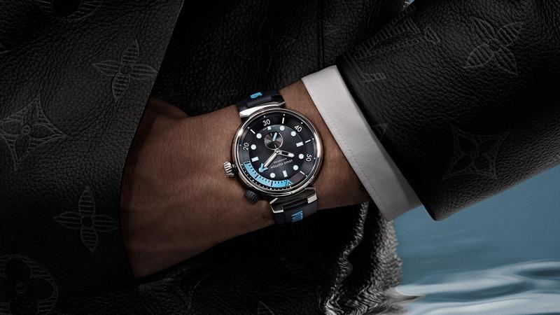 LOUIS VUITTON | Tambour Street Diver Skyline Blue,建議售價NT$ 222,100